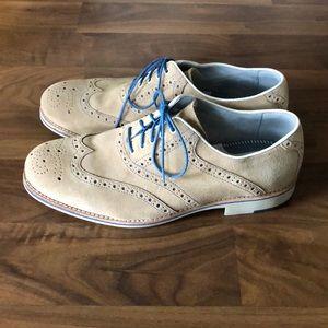 Johnston & Murphy Mens Dress Shoes Suede 11